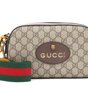 NWT Gucci tiger head GG supreme shoulder bag